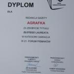 Agrafka Gold Dyplom